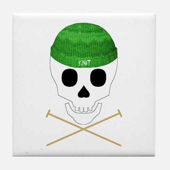 Knit Skull Cap Tile Coaster