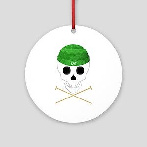 Knit Skull Cap Ornament (Round)