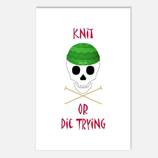 Knit Skull Cap Postcards (Package of 8)