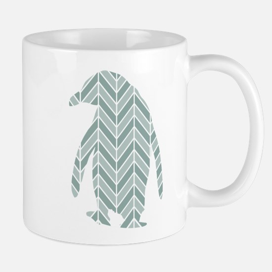 Chevron Penguin Mug
