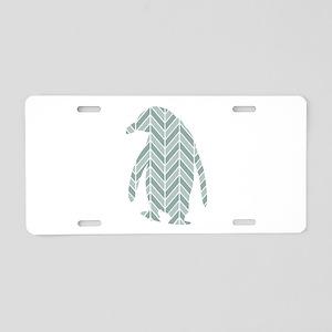 Chevron Penguin Aluminum License Plate