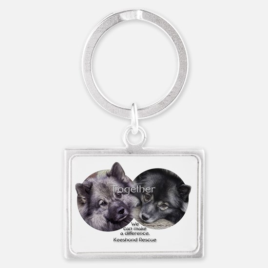 Together We Make a Difference Landscape Keychain