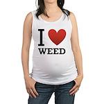 i-love-weed Maternity Tank Top