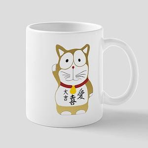 Maneki Neko gold Mugs