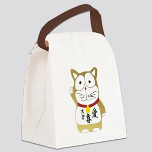 Maneki Neko gold Canvas Lunch Bag