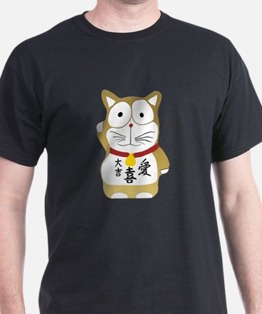 Maneki Neko gold T-Shirt
