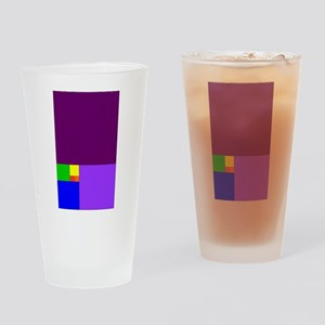 fibonacci roygbiv Drinking Glass
