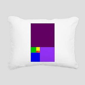 fibonacci roygbiv Rectangular Canvas Pillow