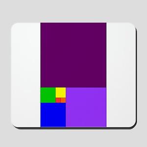 fibonacci roygbiv Mousepad