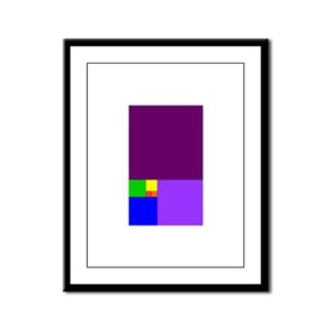 fibonacci roygbiv Framed Panel Print