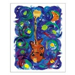 Small Starry Mandolin Poster