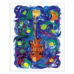 Small Starry Mandolin Poster