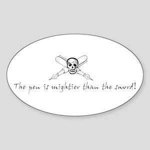 Mighty Pens Oval Sticker