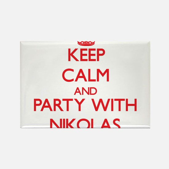 Keep Calm and Party with Nikolas Magnets