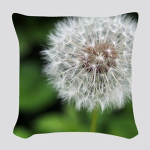 Dandelion Puff Woven Throw Pillow