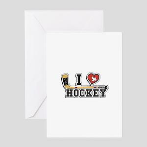 I Love Hockey Greeting Card
