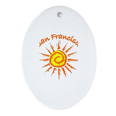 San Francisco, California Oval Ornament