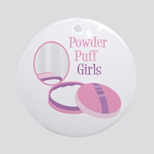 Powder Puff Ornament (Round)