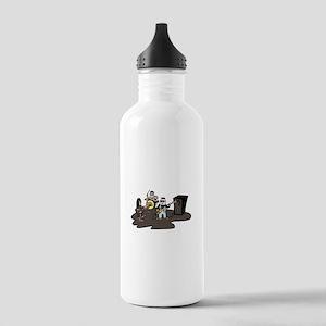 cartoon band grey Water Bottle