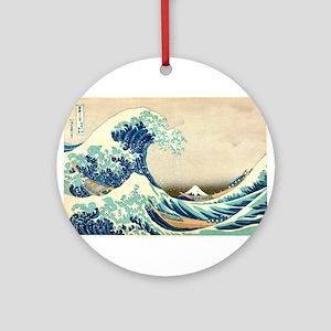 Hokusai Great Wave off Kanagawa Ornament (Round)