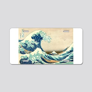 Hokusai Great Wave off Kanagawa Aluminum License P