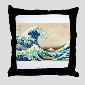 Hokusai Great Wave off Kanagawa Throw Pillow
