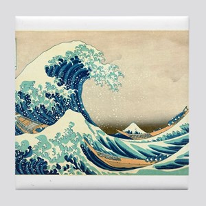 Hokusai Great Wave off Kanagawa Tile Coaster