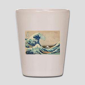 Hokusai Great Wave off Kanagawa Shot Glass