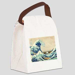 Hokusai Great Wave off Kanagawa Canvas Lunch Bag