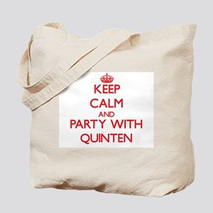 Keep Calm and Party with Quinten Tote Bag