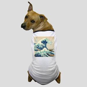 Hokusai Great Wave off Kanagawa Dog T-Shirt