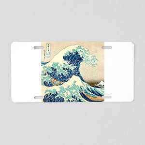 Hokusai Great Wave off Kanagawa Aluminum License P