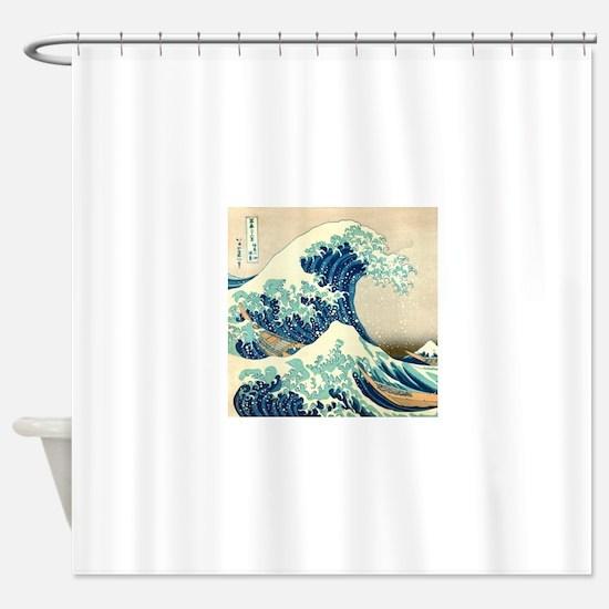 Hokusai Great Wave off Kanagawa Shower Curtain