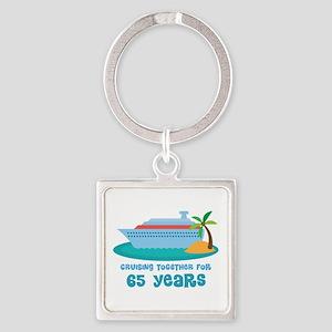 65th Anniversary Cruise Square Keychain