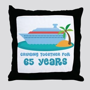 65th Anniversary Cruise Throw Pillow