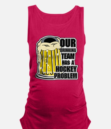 Hockey Drinking Team Maternity Tank Top