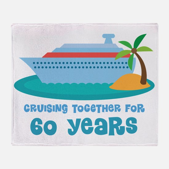 60th Anniversary Cruise Throw Blanket