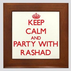 Keep Calm and Party with Rashad Framed Tile