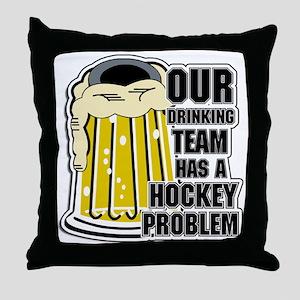 Hockey Drinking Team Throw Pillow