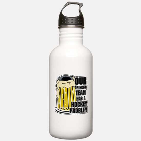 Hockey Drinking Team Water Bottle