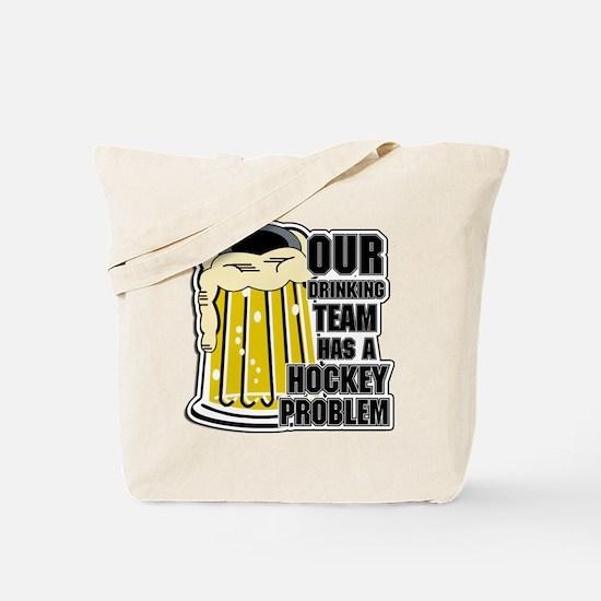 Hockey Drinking Team Tote Bag