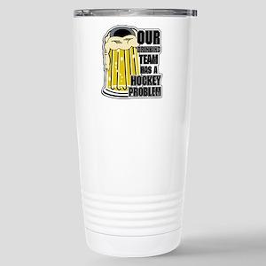 Hockey Drinking Team Stainless Steel Travel Mug