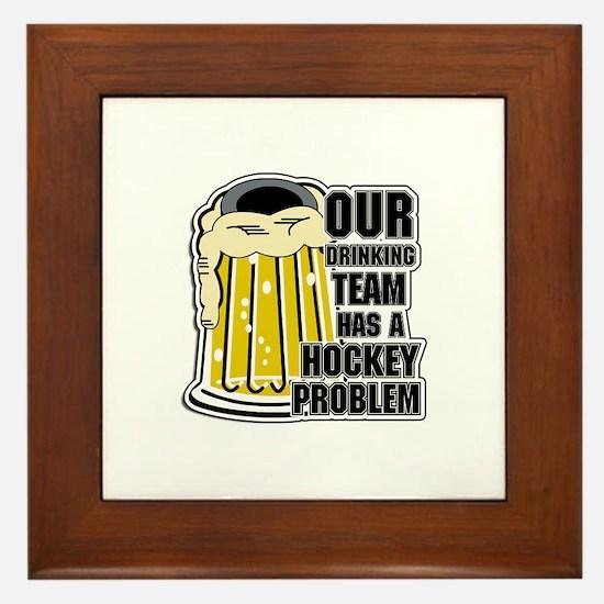 Hockey Drinking Team Framed Tile