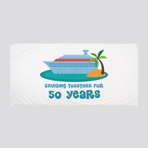 50th Anniversary Cruise Beach Towel