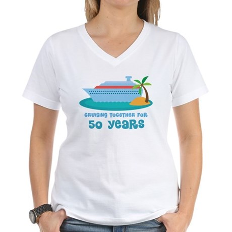 50th Anniversary Cruise Women's V-Neck T-Shirt