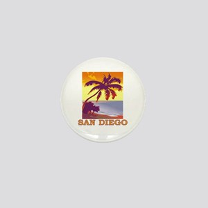 San Diego, California Mini Button
