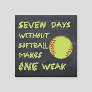 Chalkboard Seven Days Without Softball Sticker