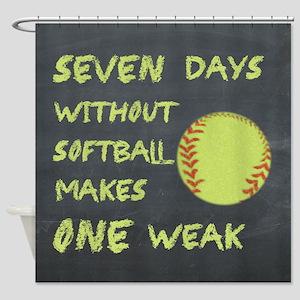 Chalkboard Seven Days Without Softball Shower Curt