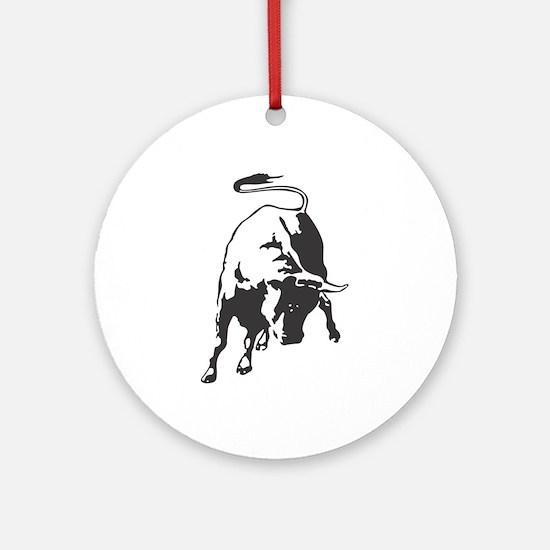Raging Bull Ornament (Round)