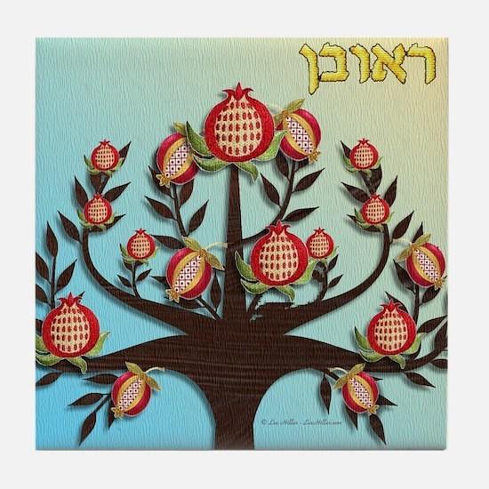 12 Tribes Israel Reuben Tile Coaster